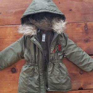 Guess jacket with faux fur trim